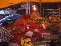 Fruits in Gandhi Bazaar during Ganesha Gowri