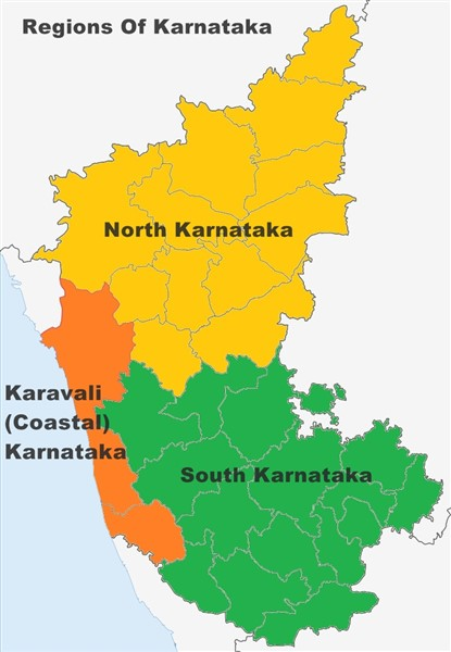 Karnataka Map. Image created by Raghu Naik NC