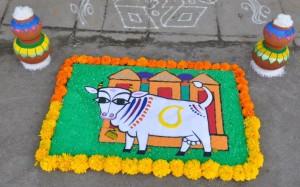 Shankantri Rangoli by Anisha Raghu