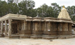 near Mysore,Vaidyeshvara Temple (1000 AD) at Talakad. Photographer Dinesh Kannambadi