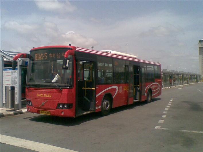 Bangalore Airport Commute Volvo Bus Taxi Cab