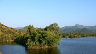 Krisnayyanakatte reservoir at the foot of the BR Hills