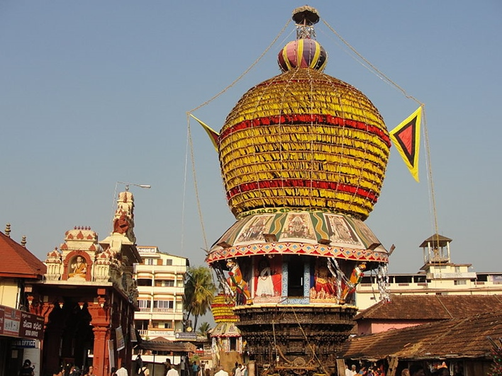 Decorated chariot Udupi Shri Krishna Temple