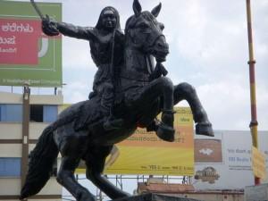 Siddharoodha Math Hubli, Rani Chennamma Statue, Hubli. Image source http://www.panoramio.com/photo/40096739