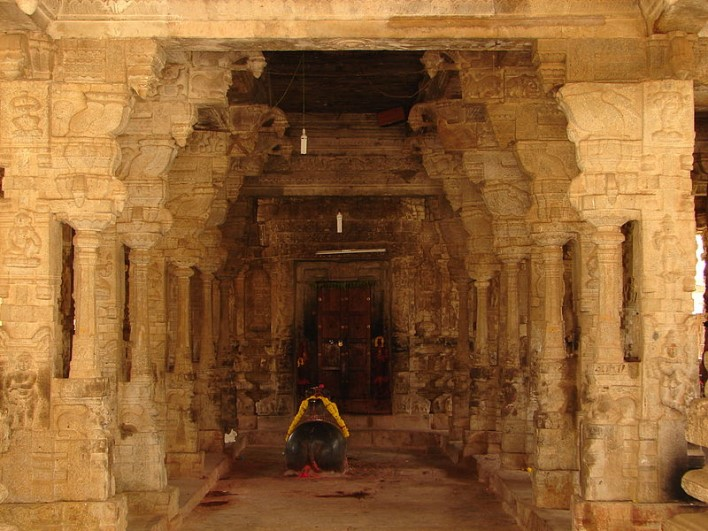 Entrance to mantapa (hall) in Someshvara Temple at Kolar