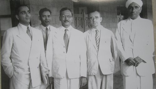 Sir CV Raman with Homi Bhaba in 1948