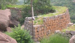 Savandurga Fort Wall. Photo source Karnatakatravel