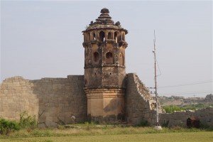 facts about Hampi, Watch Tower, Lotus Mahal, Hampi. Copyright Karnataka.com