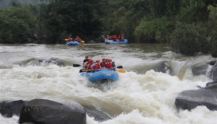 White Water Rafting, Hidden Woods Homestay, Srimangala