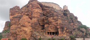 Southern Fort & the old gun, Badami.