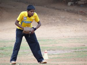 Shivaraj at a training session in 2012