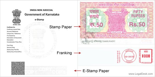 E-Stamp paper in Karnataka