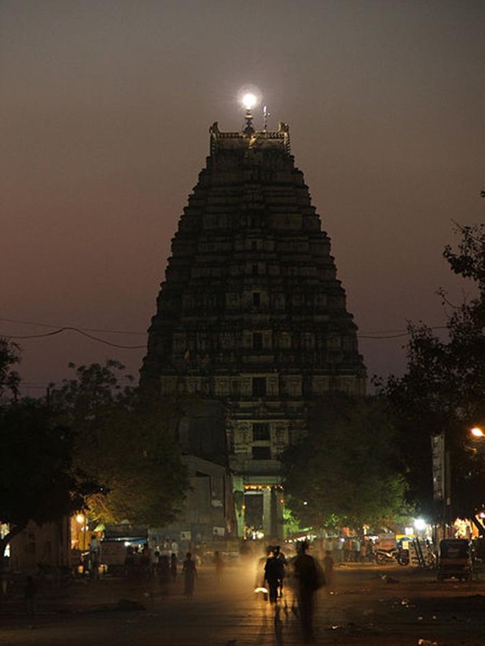 Hampi by night, Virupaksha Temple, Hampi