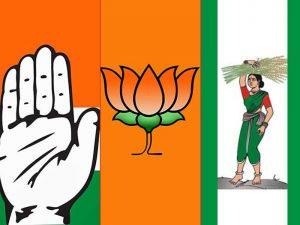 Major parties in Karnataka - Congress, BJP, JDS